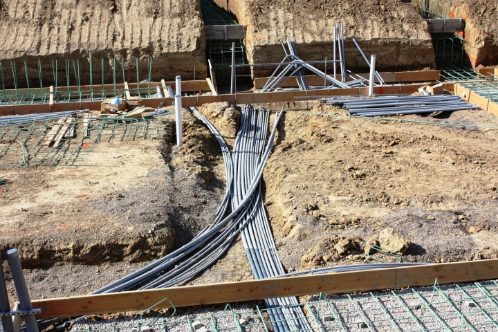 Trenching In Electrical between Mechanical Rooms and Garage