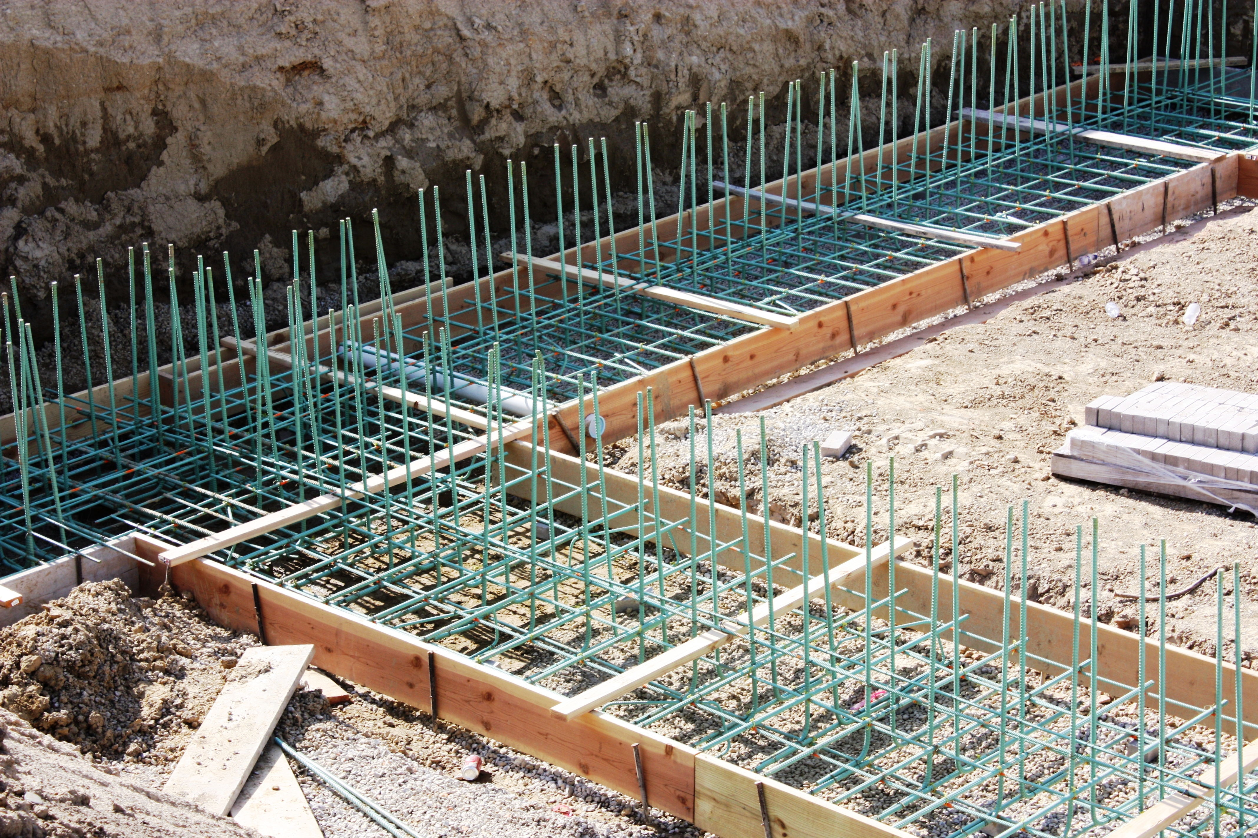 FRF Footing and Start of Wall Rebar is Installed