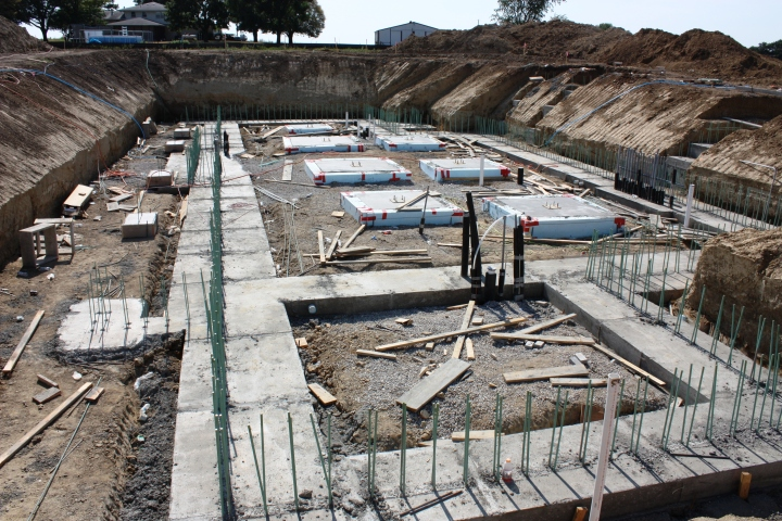 Full Revolution Farm Footings are Stripped of Forms and Ready for Wall Rebar