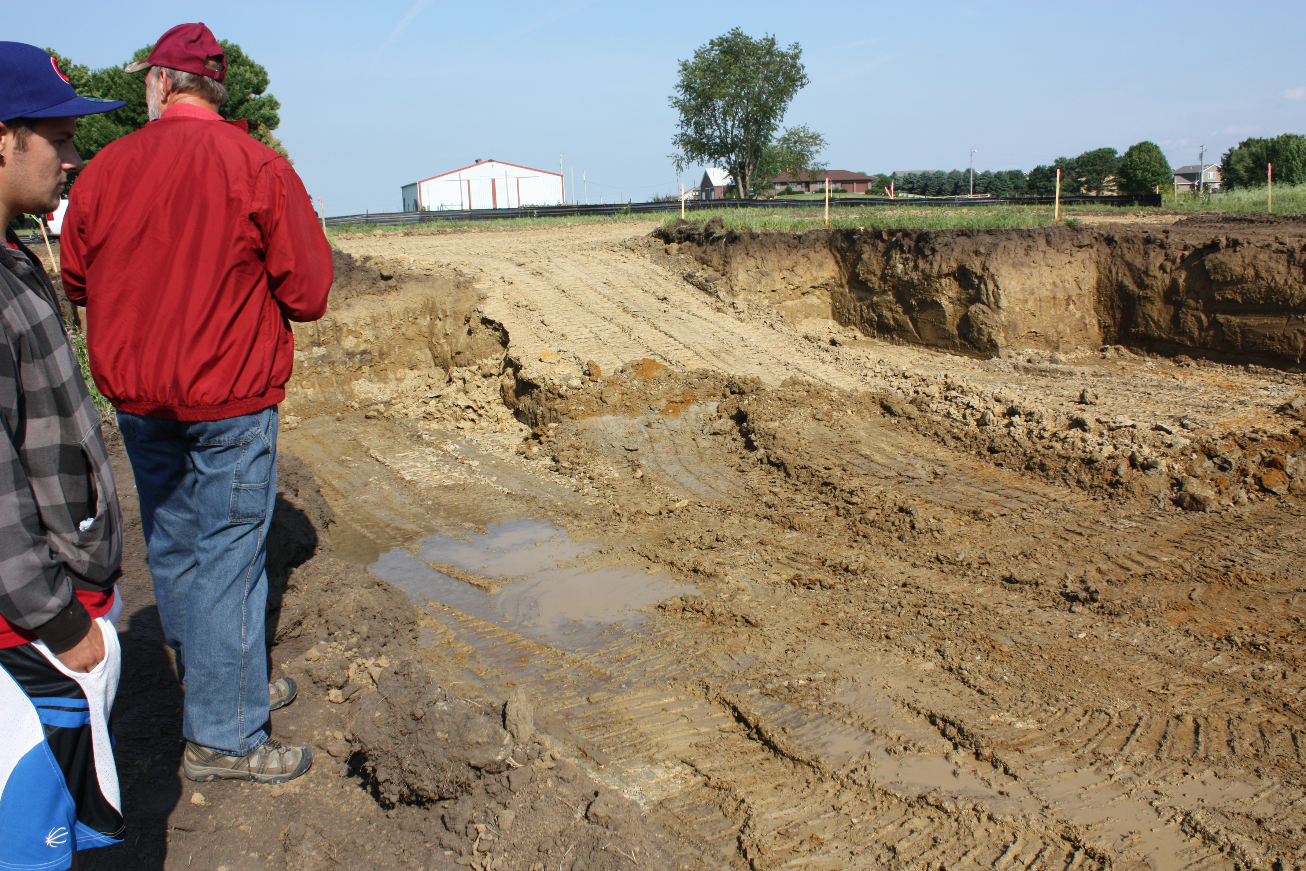 Foundation Dig Hit a Natural Spring