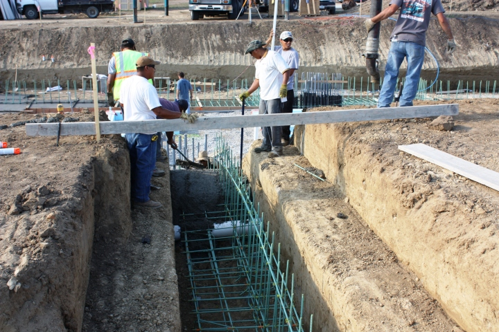 Full Revolution Farm Garage Footing Pour around Garage Earth Tube Sleeve