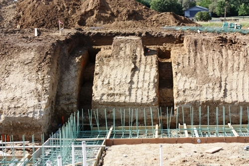Portico Footing are Excavated