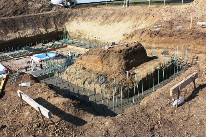 Full Revolution Farm Portico Footing is a Finished Pour