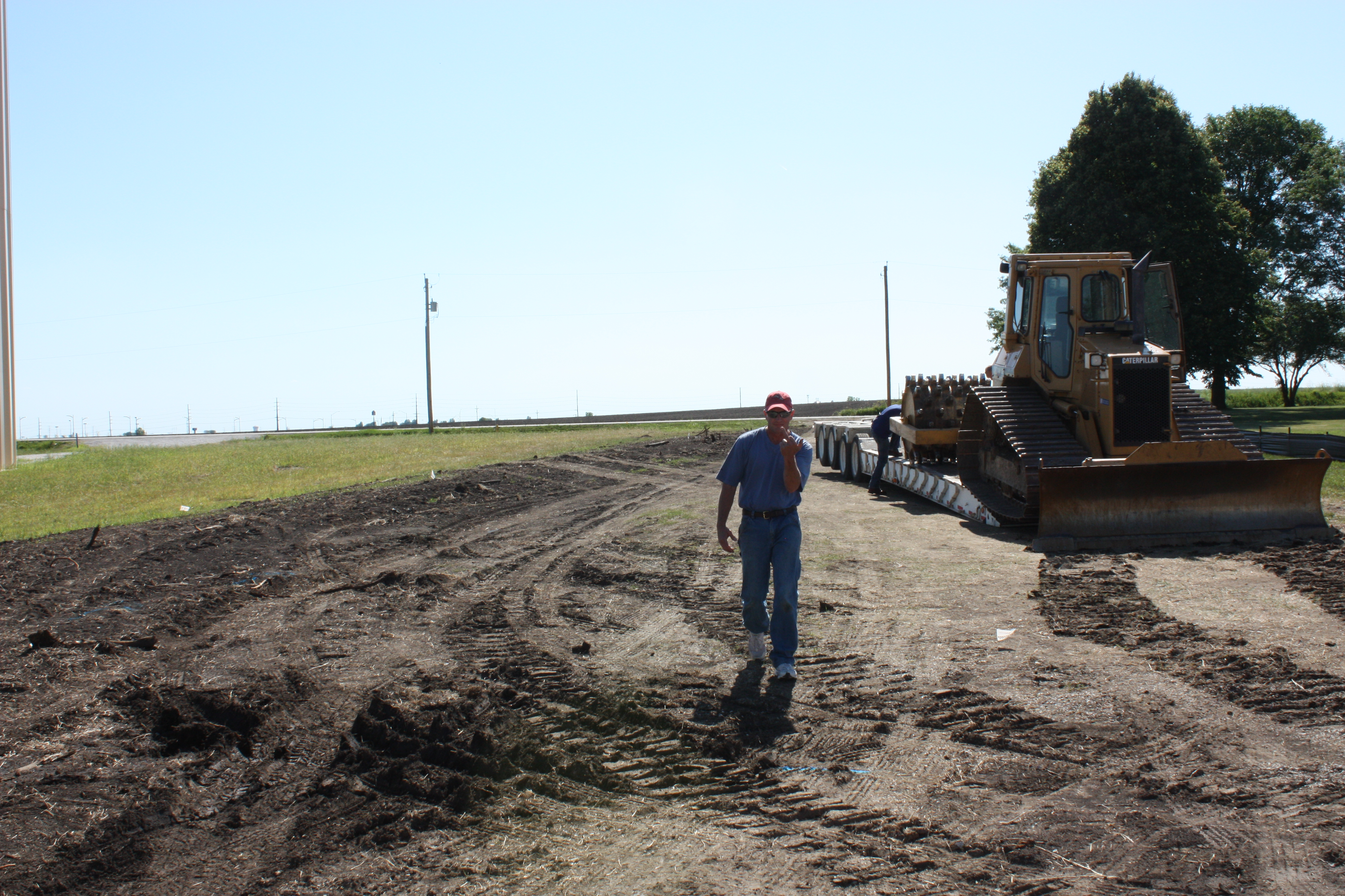 Top soil stripping and sight grading begins