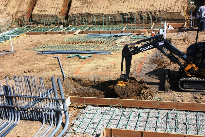 Trenching In Electrical between Mechanical Rooms
