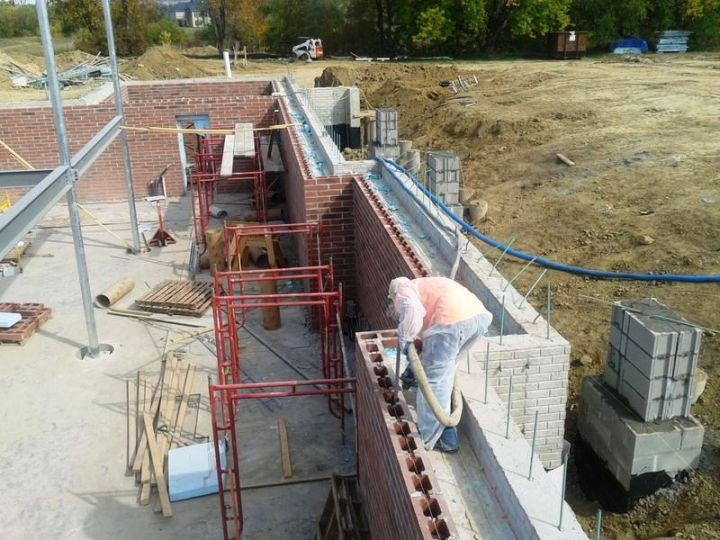 Air sealing the interior and exterior foundation