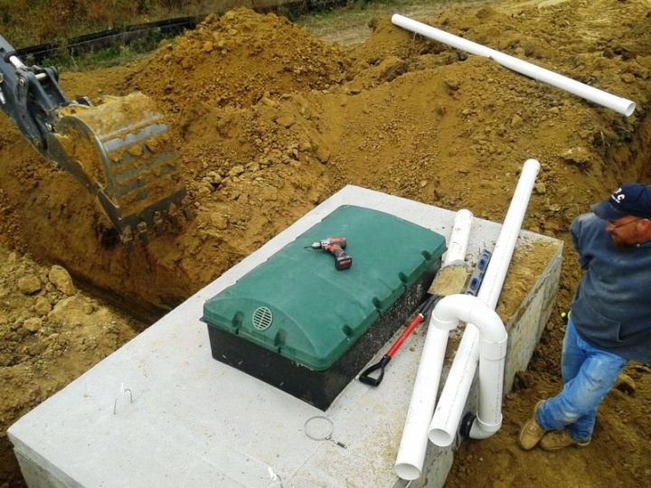Trenching from the Biofilter to the UV Treatment Tank
